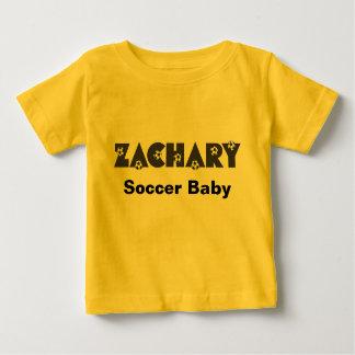 Zachary in Soccer Black Baby T-Shirt