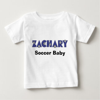 Zachary in Soccer Blue Baby T-Shirt