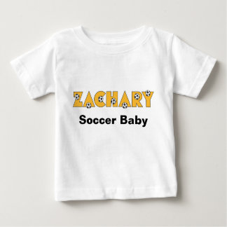 Zachary in Soccer Gold Baby T-Shirt