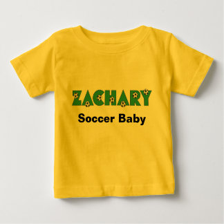 Zachary in Soccer Green Baby T-Shirt