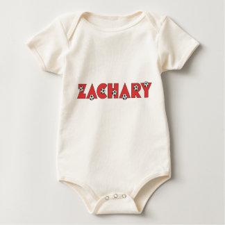 Zachary in Soccer Red Baby Bodysuit