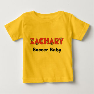 Zachary in Soccer Red Baby T-Shirt