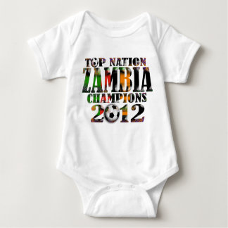 Zambia 2012 Africa Cup of Nations Champions Baby Bodysuit