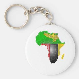 Zambia Basic Round Button Key Ring