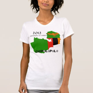 """Zambia """"Chipolopolo"""" 2012 Champions of Africa Tees"""