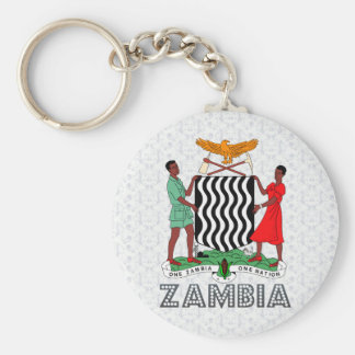 Zambia Coat of Arms Key Ring