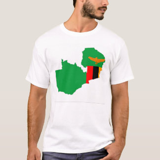 zambia country flag map shape symbol T-Shirt