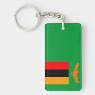 zambia country flag nation symbol Single-Sided rectangular acrylic key ring