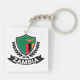 Zambia Double-Sided Square Acrylic Key Ring