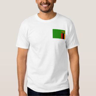 Zambia Flag and Map T-Shirt