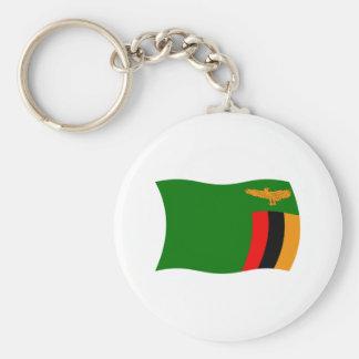 Zambia Flag Keychain