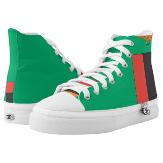 Zambia Flag -.png Printed Shoes
