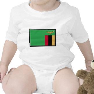 Zambia Flag Baby Bodysuits