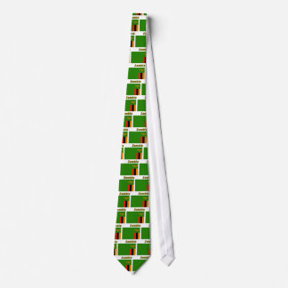 Zambia Flag with Name Tie