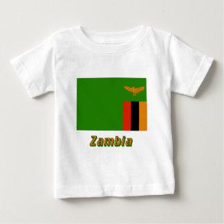 Zambia Flag with Name Tee Shirts