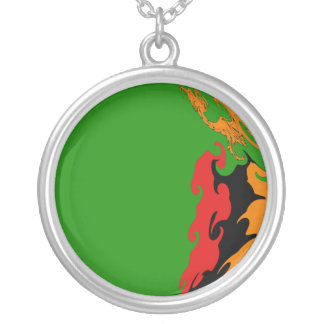 Zambia Gnarly Flag Necklace