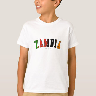 Zambia in national flag colors T-Shirt