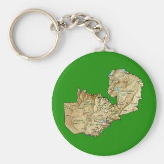 Zambia Map Keychain