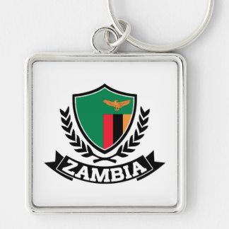 Zambia Silver-Colored Square Key Ring