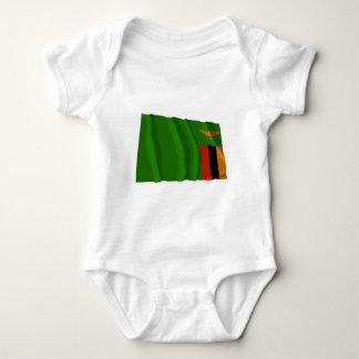 Zambia Waving Flag Tshirt
