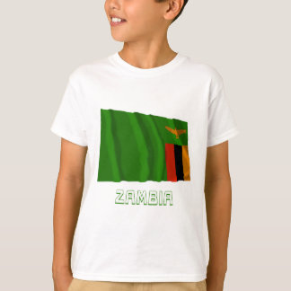 Zambia Waving Flag with Name T-Shirt