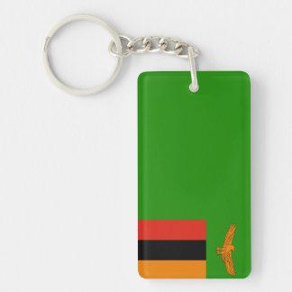 Zambia – Zambian Flag Double-Sided Rectangular Acrylic Key Ring