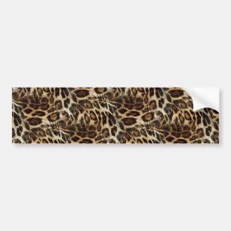 Zany and Spiffy Leopard Spots Leather Grain Look Bumper Sticker