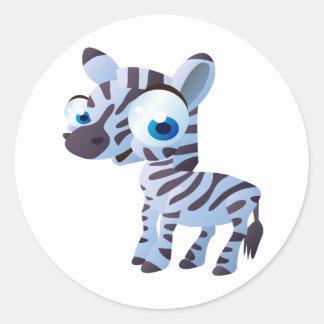 Zany The Zebra Classic Round Sticker