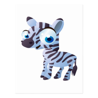 Zany The Zebra Postcard