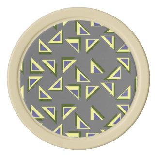 Zany Triangle Poker Chips