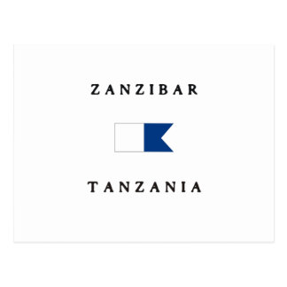 Zanzibar Tanzania Alpha Dive Flag Postcard