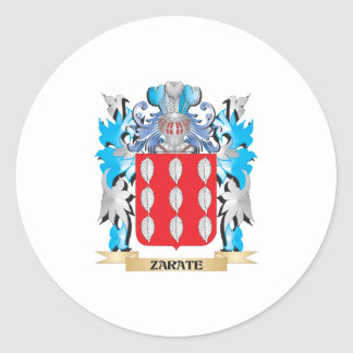 Zarate Coat of Arms - Family Crest Round Sticker