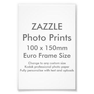 Zazzle Custom 100x 150mm Photo Print UK Frame Size