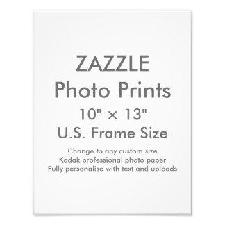 "Zazzle Custom 10"" × 13"" Photo Print (US Frame Size"