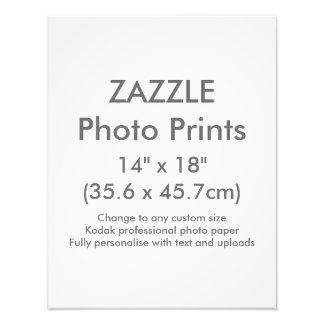 "Zazzle Custom 14"" x 18"" Photo Print Template"