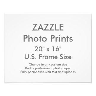 """Zazzle Custom 20"""" x 16"""" Photo Print  US Frame Size"""