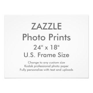 """Zazzle Custom 24"""" x 18"""" Photo Print  US Frame Size"""