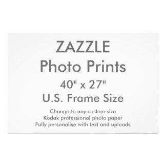 """Zazzle Custom 40"""" x 27"""" Photo Print US Frame Size"""