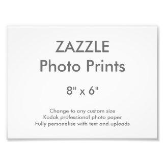 "Zazzle Custom 8"" x 6"" Photo Print Template"