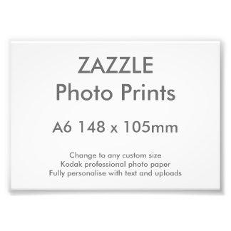 Zazzle Custom A6 14.8 x 10.5 cm Photo Print