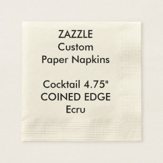 Zazzle Custom Coined Edge Cocktail Paper Napkins