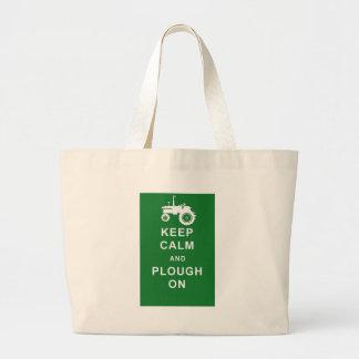 zazzle keep calm plough.jpg large tote bag