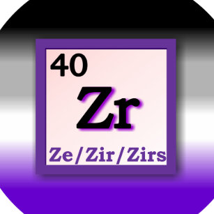 Periodic table badges and periodic table pins zazzle ze zir periodic table personal gender pronoun pin urtaz Gallery