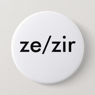 ze/zir pronoun badge
