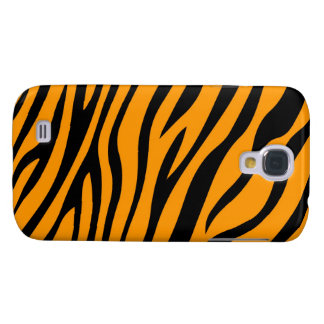 Zebbra Stripes Orange Galaxy S4 Case