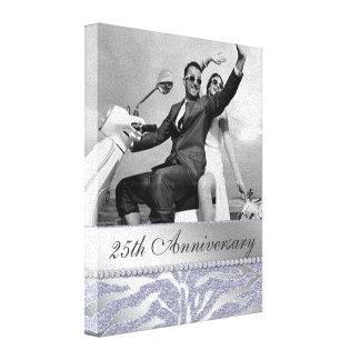 Zebra 25th Anniversary Photo Canvas Silver Canvas Print