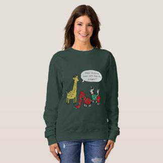 Zebra and Giraffe Christmas Jumper   Classic Comic Sweatshirt