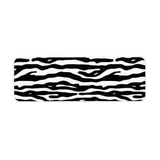 Zebra Animal Print Black White Stripes Pattern