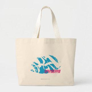 Zebra Aqua Large Tote Bag