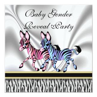 Zebra Baby Gender Reveal Party Invitation
